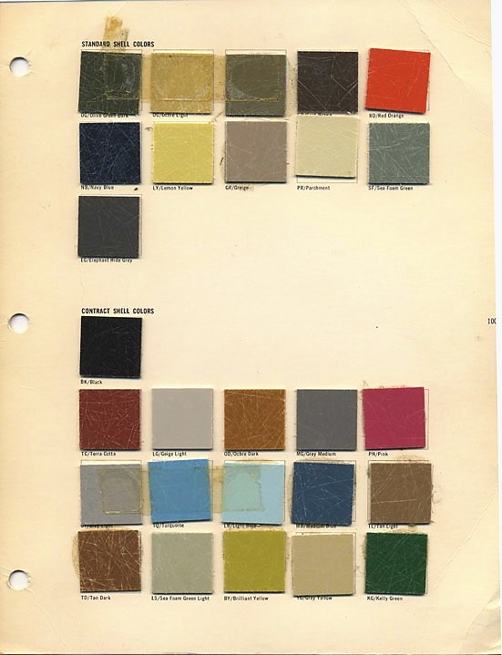 Eames color chart shell